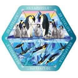 Hexapuzzle magnetické 17x15cm - tučňáci (6)
