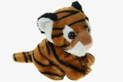 Tygr hnědý sedící, plyš 19cm