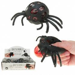 Pavouk mačkací s kuličkami 6,5cm, LED světlo (12)