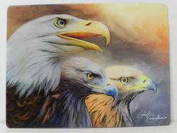 Pohlednice 3D 16cm - tři orli (25)