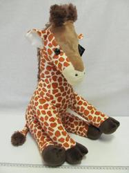 Žirafa plyš 50cm sedící, měkká
