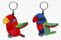 Klíčenka papoušek lori plyš, 2dr (6)