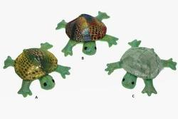 Želva textil s pískem 8,5cm, 3 asst. (12ks)
