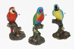 Papoušek polyr. 9,5cm sort, (6ks)