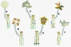 Magnet dřevo mořská zvířátka, s lahvičkou, 6dr (24)