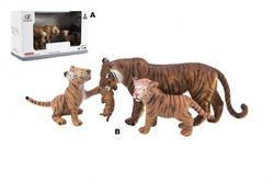 Tygr plast 13cm set 3ks, 2dr