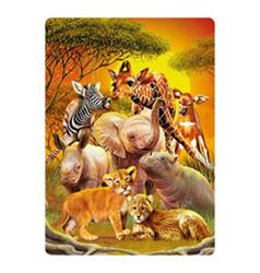 Pohlednice 3D 16cm - veselé safari (25)