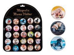Magnet dekorační kulatý 3,5cm (koně, psi, kočky)