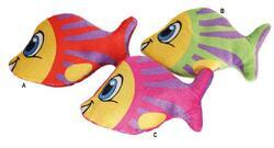 Ryba barevná plyš 16cm, 3dr