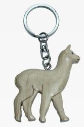 Přívěšek dřevo - bílá lama (6)