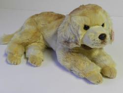 Pes zlatý retrívr ležící plyš 32cm