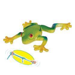 Žába listovnice červenooká strečová 15cm (24)