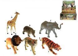 Zvířátka safari  23-30 cm 6 druhů (12)