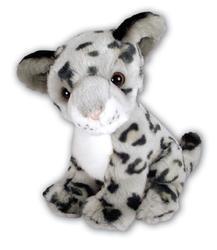 Leopard sněžný sedící plyš 25cm