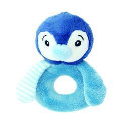 Chrastítko tučňák modrý plyš 12cm