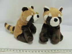 Panda červená plyš sedící 14cm