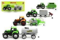 Traktor s přívěsem plast 16cm ast 6druhů