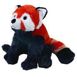 Panda červená plyš ECO, střední 30cm