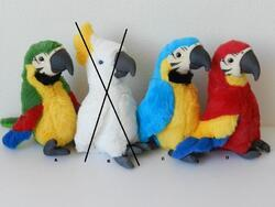 Papoušek plyš 35cm, 4dr