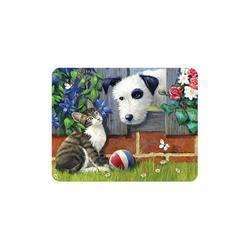 Magnet 3D 7x9cm - kočka se psem a míč (25)