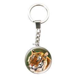 Klíčenka kulatá 3,2cm - tygr