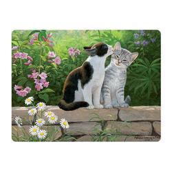 Pohlednice 3D 16cm - kočky na zídce (25)