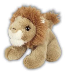 Lev hnědý plyš 13cm