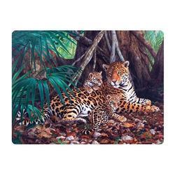 Pohlednice 3D 16cm - jaguár s mláďaty (25)