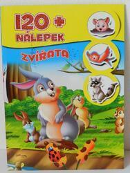 Knížka se samolepkami 120+ Zvířata CZ verze