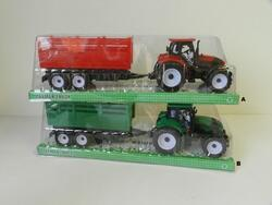 Traktor s vlekem plast 35cm na setrvačník 2barvy