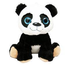 Panda sedící plyš 25cm, velké oči(6ks/bal)