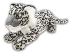 Sněžný leopard ležící plyš 60cm