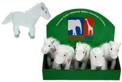 Kůň plyš bílý 19cm(6)