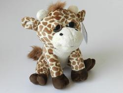 Žirafa sedící plyš 25cm, velké oči  (6)