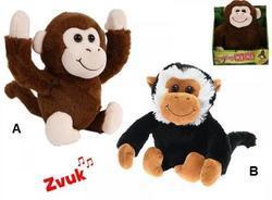 Opice plyš 25cm na baterie se zvukem 2dr
