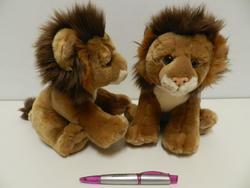 Lev sedící, plyš 23cm