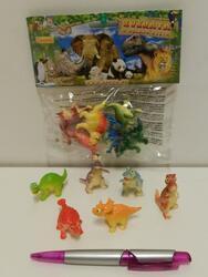 Dinosauři veselá zvířátka, set 6ks v sáčku - 1
