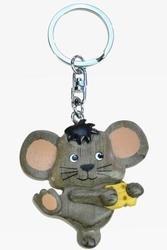 Přívěšek dřevo - myška se sýrem (6)