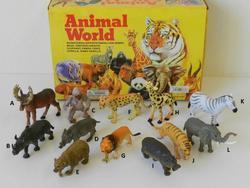 Zvířátka divoká plast 11cm, 12dr (36)