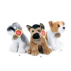 plyšový pes sedící 3 druhy, 20 cm