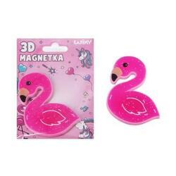 Magnetka 3D - plameňák