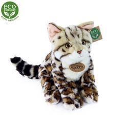 Kočka bengálská sedící plyš 23cm