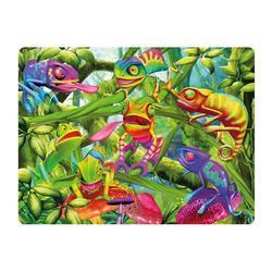 Pohlednice 3D 16cm - chameleon (25)