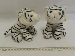 Tygr bílý plyš sedící 14cm