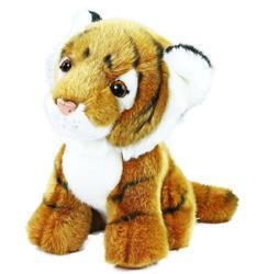 Tygr hnědý sedící plyš 18cm