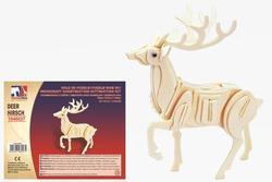 Puzzle dřevěné 3D jelen (12)