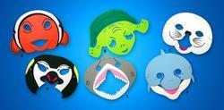 Maska mořský svět, pěnová, 6 druhů (12)