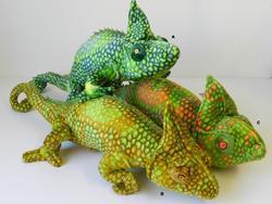 Chameleon plyš 72cm, 2barvy