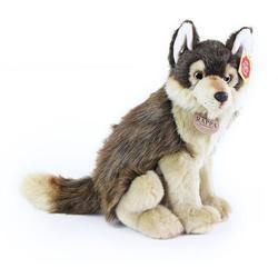 Vlk sedící plyš 28cm