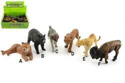 Zvířátka safari ZOO plast 10cm mix druhů (24ks/bal)